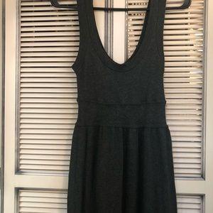 Charcoal grey babydoll swing dress